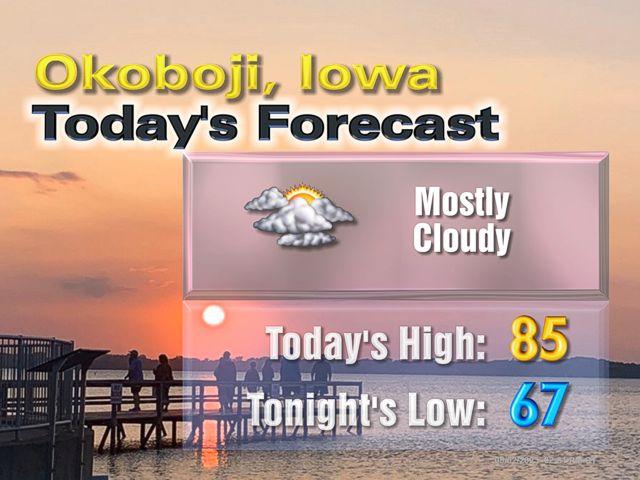 Explore okoboji weather northwest iowa weather local for Today s fishing forecast